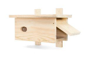 budka drewniana dla jerzyka sklep otwierana z boku