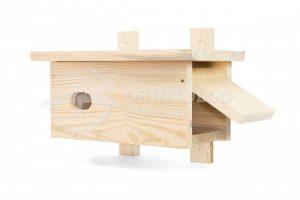 budka lęgowa dla jerzyka budka z drewna otwierana z boku