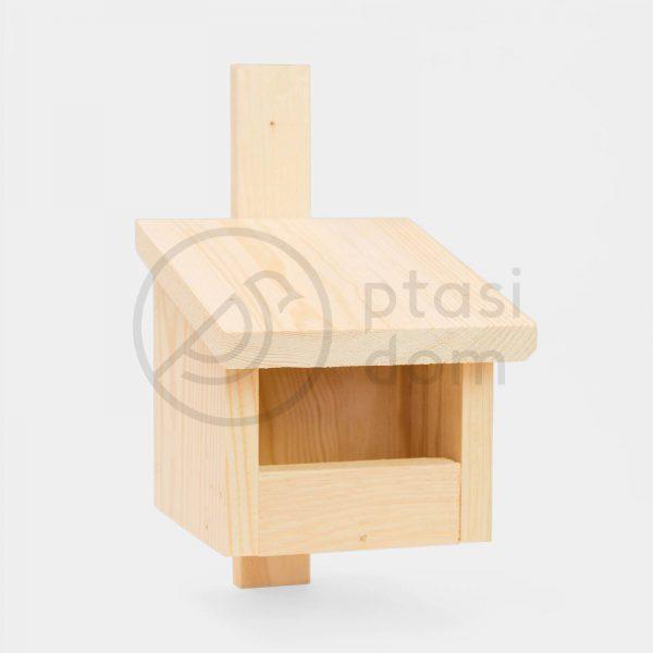 domek dla ptaków budka drewniana dla ptaków lęgowa półotwarta