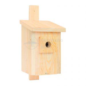 budka dla sikor z drewna domek z drewna dla ptaków