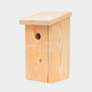 drewniana budka dla ptaków do samodzielnego montażu