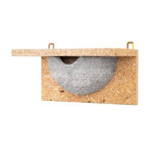 gniazdo dla jaskółki budka dla jaskółki z trocinobetonu do mocowania