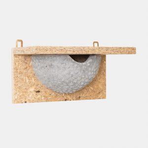 domek dla ptaków gniazdo dla jaskółki z trocinobetonu podtynkowe