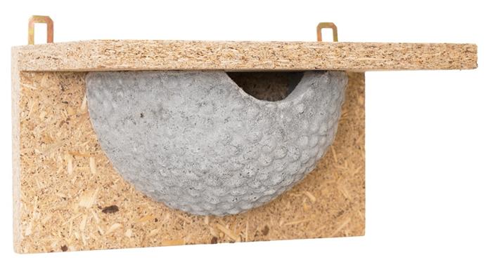 Trocinobetonowa półka dla jaskółki