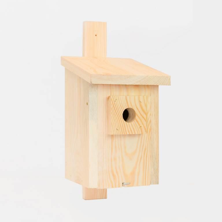 Budka dla sikorki z drewna sosnowego